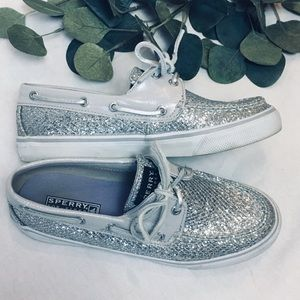 Sperry topsider silver